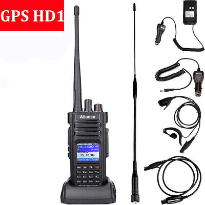 New GPS Ailunce HD1 UHF/VHF Dual Band DMR Tier 2 2-way Radio IP67+HD1Accessories