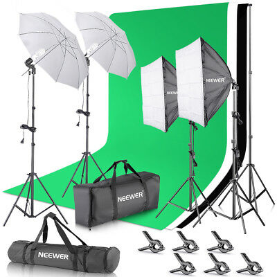 Neewer Studio Photography Backdrop Support System,Umbrellas Softbox Lighting Kit