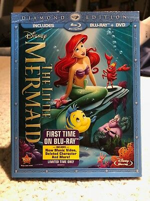 The Little Mermaid (Blu Ray + DVD) (w/ SLIPCOVER) (Diamond Edition) (DISNEY)