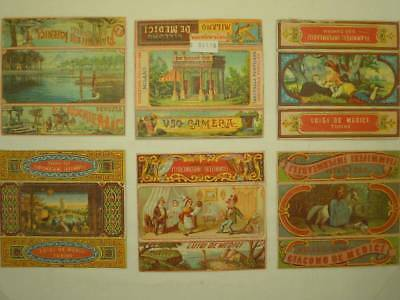 Scatole Fiammiferi-Match Boxes-Cromolitografie- Italy Lot-52 Items-V6E-S50116