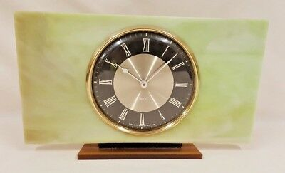 Vintage Smiths Green Lucite Mantle Clock