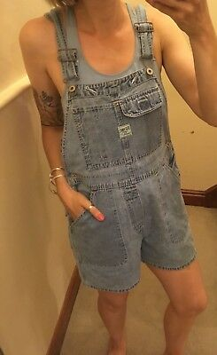 Vintage Small 8-10 1990 Grunge Dungaree Shorts