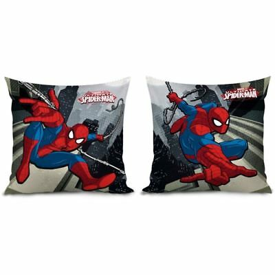 Marvel Spiderman Reversible Filled Cushion Kids Boys Bedroom Superhero