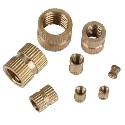 M2-M10 Brass Cylinder Knurled Molded-in Insert Embedded Nuts Assortment Kit wtt