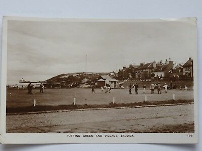Putting Green and Village Brodick Arran