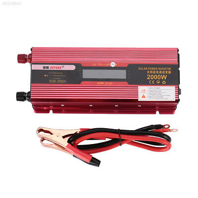 2000W US Plug Car Power Supply Inverter Charger DC 12V to AC 110V Adapter