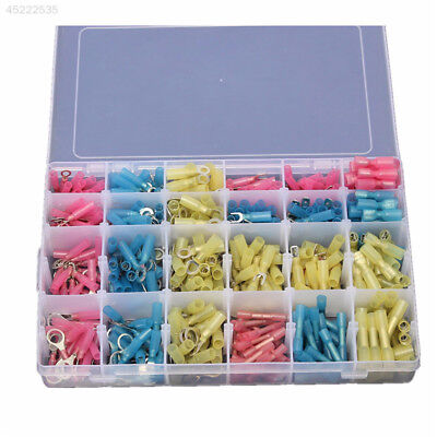 480Pcs Heat Shrink Electrical Crimp Terminal Wiring Connector Set Kit with Box