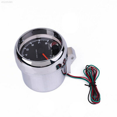 12V Universal Car Tachometer Gauge 0-8000 RPM Speedometer Shockproof New