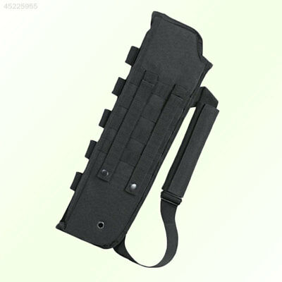 Tactical Molle Scabbard Sheath Holster with Ammo Shell Pouch For Rifle Hunting