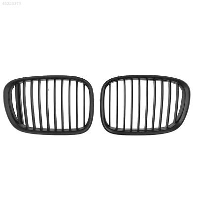 New 1Pair Front Kidney Hood 4-Door Grille Grill For BMW Black Replacement