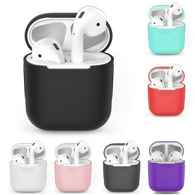 Soft Silicone Shockproof Protective Cover Case Skin For Apple AirPods Earphones