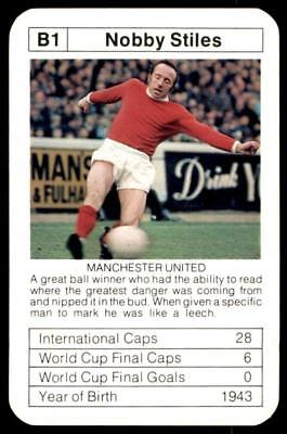 ACE Bobby Charlton's World Cup Aces 1978 Nobby Stiles (England) No. B1.
