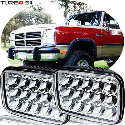 7x6'' LED Headlights Sealed Beam For Dodge W250 D350 Ram 81-93 Dodge Ramcharger