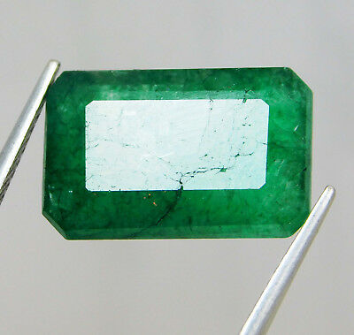 Natural 9.80 Cts. Emerald Cut Colombian Loose Emerald Gems. OMA1  AQ