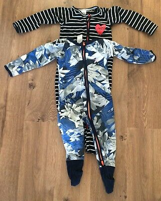 4 x Bonds Boys Zippy Wondersuit 12-18 Months