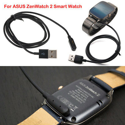 Black Cable Charger USB Faster Charging for ASUS ZenWatch 2 Smart Watch Fashion