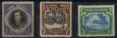 Cook Islands - SG 127-129 - 1938 - Definitive Set of 3 - Mounted Mint
