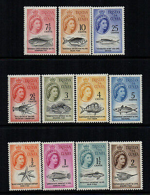 Tristan Da Cunha 1961 QE2 Definitives to 25c (SA Currency) - SG 42/52 - UM