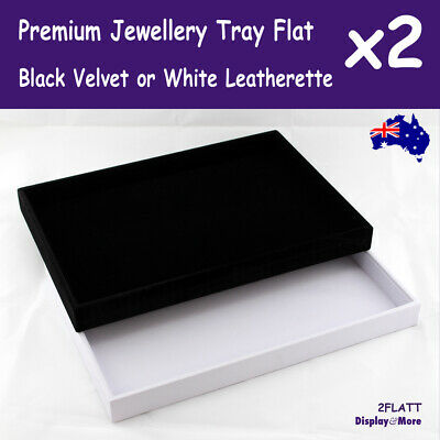 Jewellery Tray FLAT Floor | 2pcs | Black or White | AUS Stock AUSSIE Seller