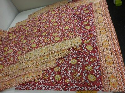 Pottery Barn Boho Paisley & Floral Print Mix Table Cloth + Matching Placemats