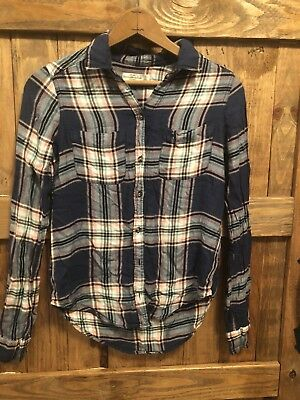 Abercrombie & Fitch Womens Long Sleeve Flannel Size XS