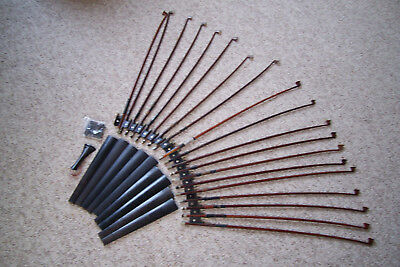 Vintage Lot Violin Bows (19) Fingerboards (9) And Parts As Is