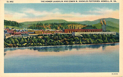The Homer Laughlin & Edwin M. Knowles Potteries, Newell, W.va. West Virginia. Wv