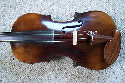 Antique Vintage Unmarked 4/4 Nice Violin With Case Estate