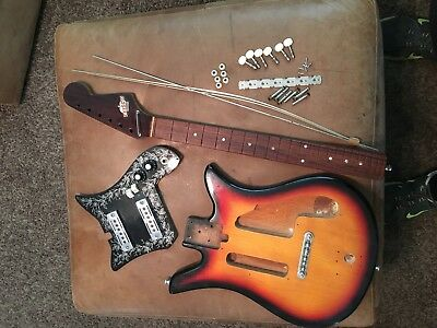 Clean  Teisco ET-200 Tulip Guitar project Complete As Shown 1960's