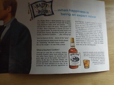 Vtg 1969 Southern Comfort Happy Hour Bar Guide Recipe Booklet
