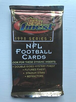 1998 Finest Factory Sealed Unopened Series 2 Baseball Packs Of Baseball Cards