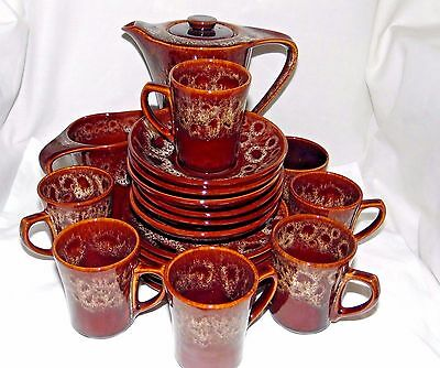 Fosters Pottery Coffee Set 21 pieces Honeycomb
