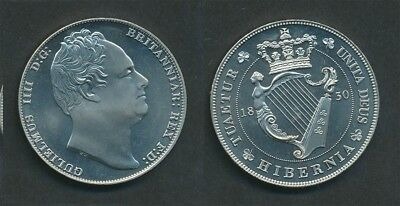 Ireland: 1830 King William IV Retrospective Pattern Crown, 28mm Prooflike UNC