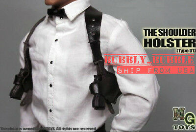 "1/6 Men Shoulder Holster Set For 12"" Hot Toys PHICEN Worldbox Male Figure ☆USA☆"