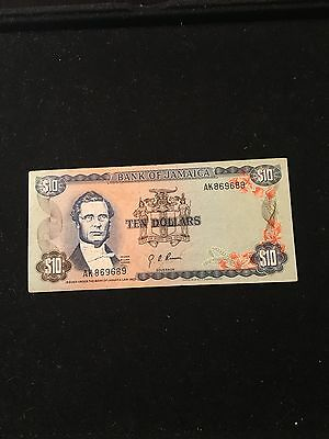 Bank Of Jamaica $10 Banknote 1960 pic57