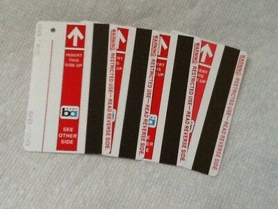 BART Ticket ~ SF Bay Area ~ Lot of 4 ~ Red. $96 Value For $40 ~ New.