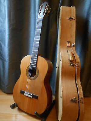 old 4/4 classical guitar  luthier GRIZZO  1965 + solid case  - guitare classique