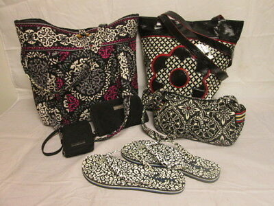 Vera Bradley Mixed Lot of 6: Purse/Flip-Flops/Wallet...Varied Designs & Colors