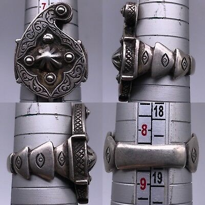 WONDERFUL SOLID SILVER ANTIQUE RING RARE LOVELY 9gr