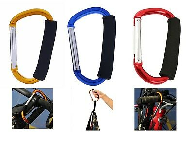 Buggy Clips Large Pram Pushchair Mummy Carry Clip Shopping Bag Hook Stronge