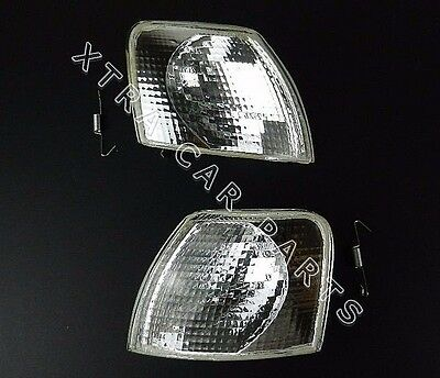 Vw Passat B5 [3B] 1996-2000 Front Left+Right Indicators Repeaters Pair Clear Set