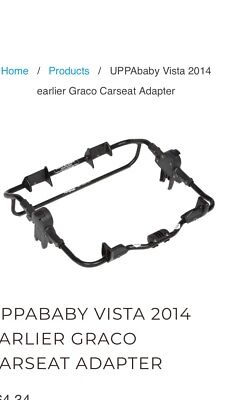 Uppababy Vista Graco Carseat Adapter 2014 Or Older