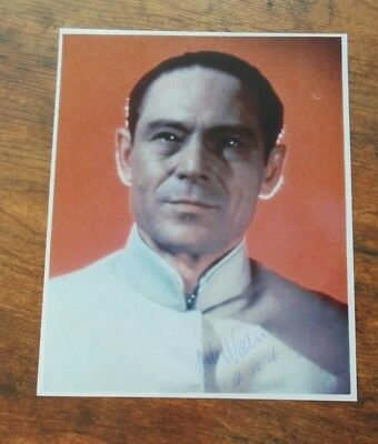 Joseph Wiseman (+) signed Autogramm Autograph in Person 20x25cm James Bond 007