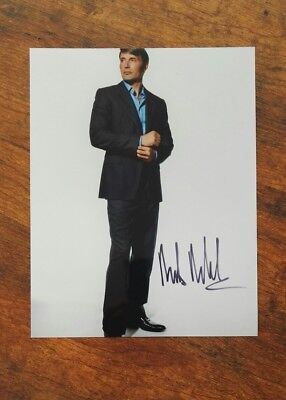 Mads Mikkelsen signed Autogramm in Person 20x25cm COA James Bond 007