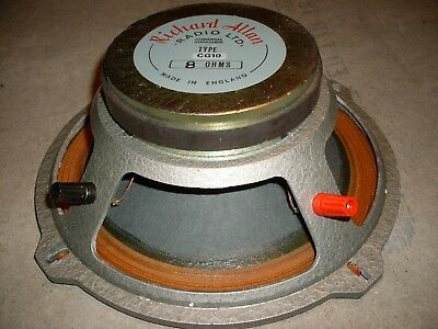 Vintage Richard Allan CG 10 Speaker   8 ohm in Great Condition