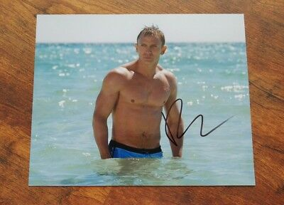 Daniel Craig signed Autogramm in Person 20x25cm COA James Bond 007