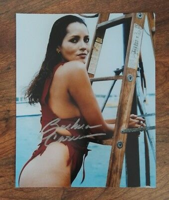 Barbara Carrera signed Autogramm in Person 20x25cm COA James Bond 007