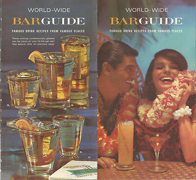 VINTAGE WORLD-WIDE BARGUIDE FAMOUS DRINK RECIPES by SOUTHERN COMFORT