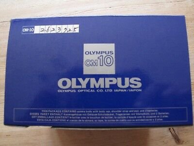 Olympus OM10, Body only Number 2623925