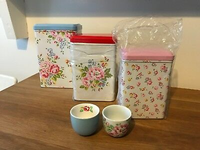 Cath Kidston Tins/Caddies and Egg Cups
